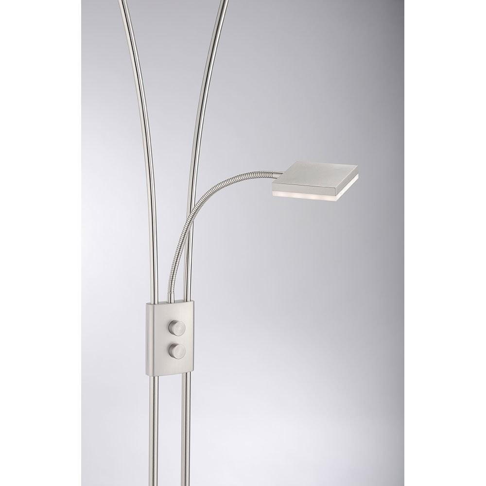Helia LED Stehleuchte dimmbar 20W + 2x 4W 3000K 2