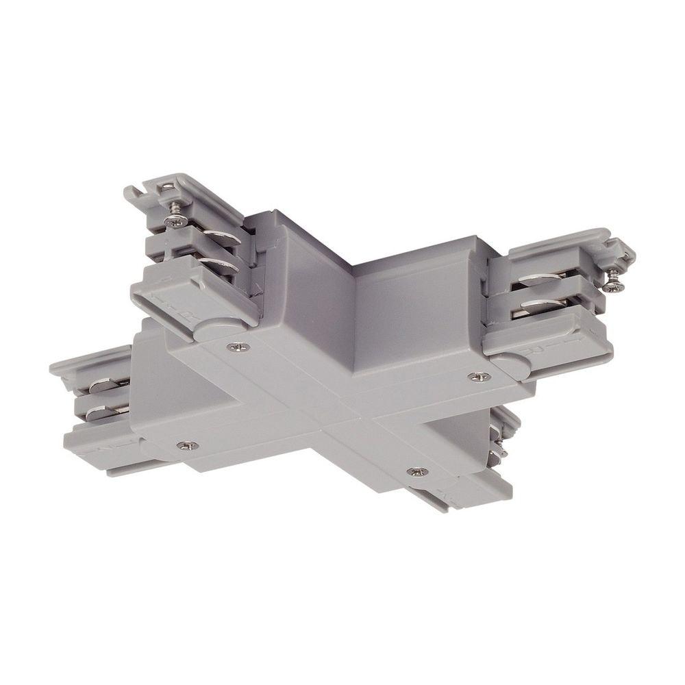 SLV X-Verbinder für S-Track 3P.Schiene Silbergrau