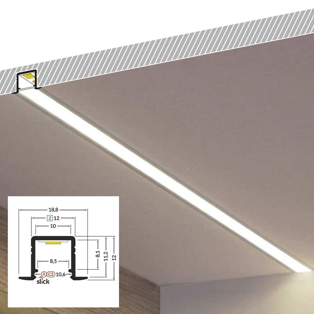 LED Aluminium Profil 2m alle Varianten  15