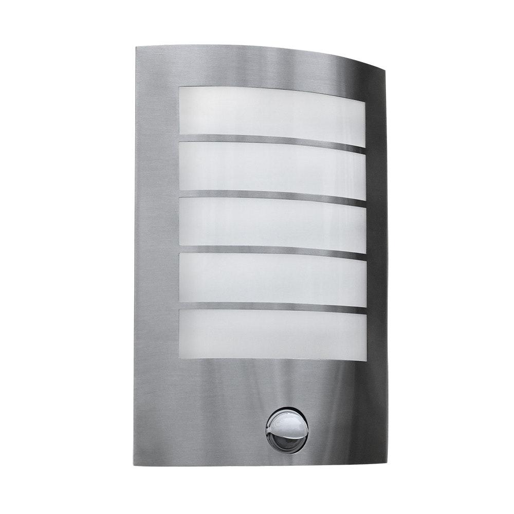 LED Außen-Wandlampe Slim mit Sensor IP44 Edelstahl 2