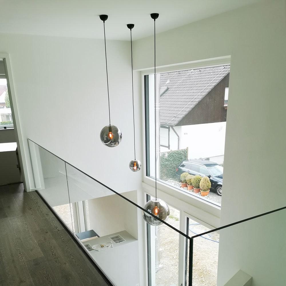 s.LUCE Orb Glaskugel Galerieleuchte 5m Abhängung 25