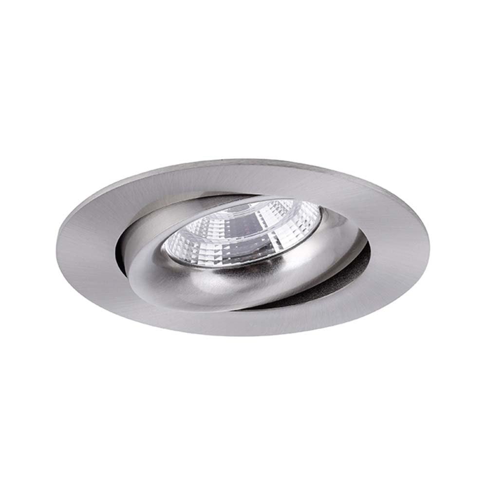 Brumberg LED Decken-Einbauleuchte Indiwo83 Nickel-Matt dim2warm