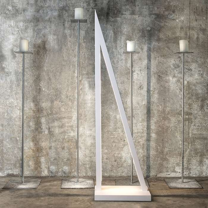 LED Stehleuchte Segel Touch-Dimmer 3000lm Weiß