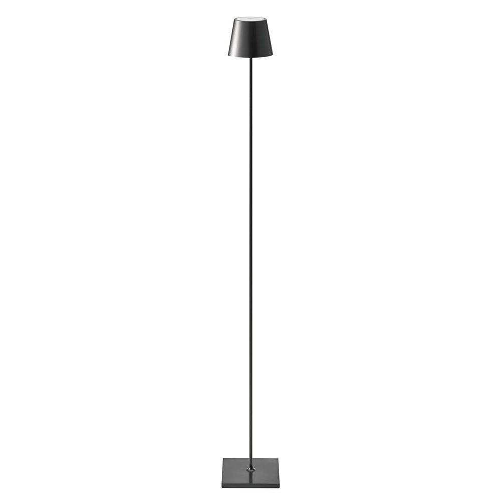 LED Akku-Stehlampe Qutarg 120cm Dimmbar IP54 Schwarz 1