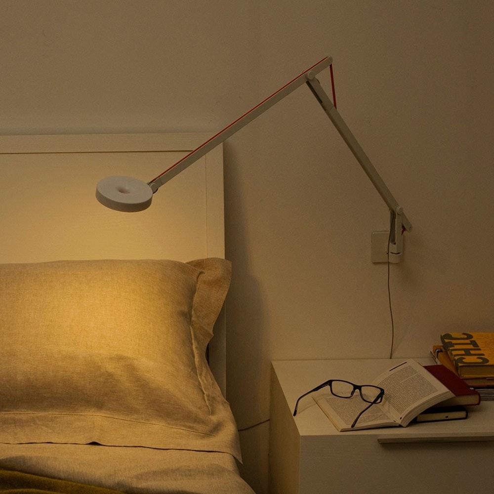 String LED-Wandleuchte mit Dimmer Silber