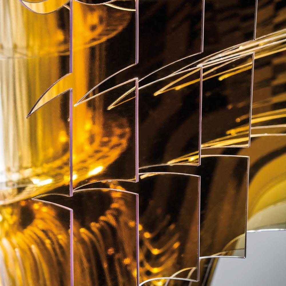 Slamp LED Hängelampe Aria Medium 3500lm 2700K Gold 9