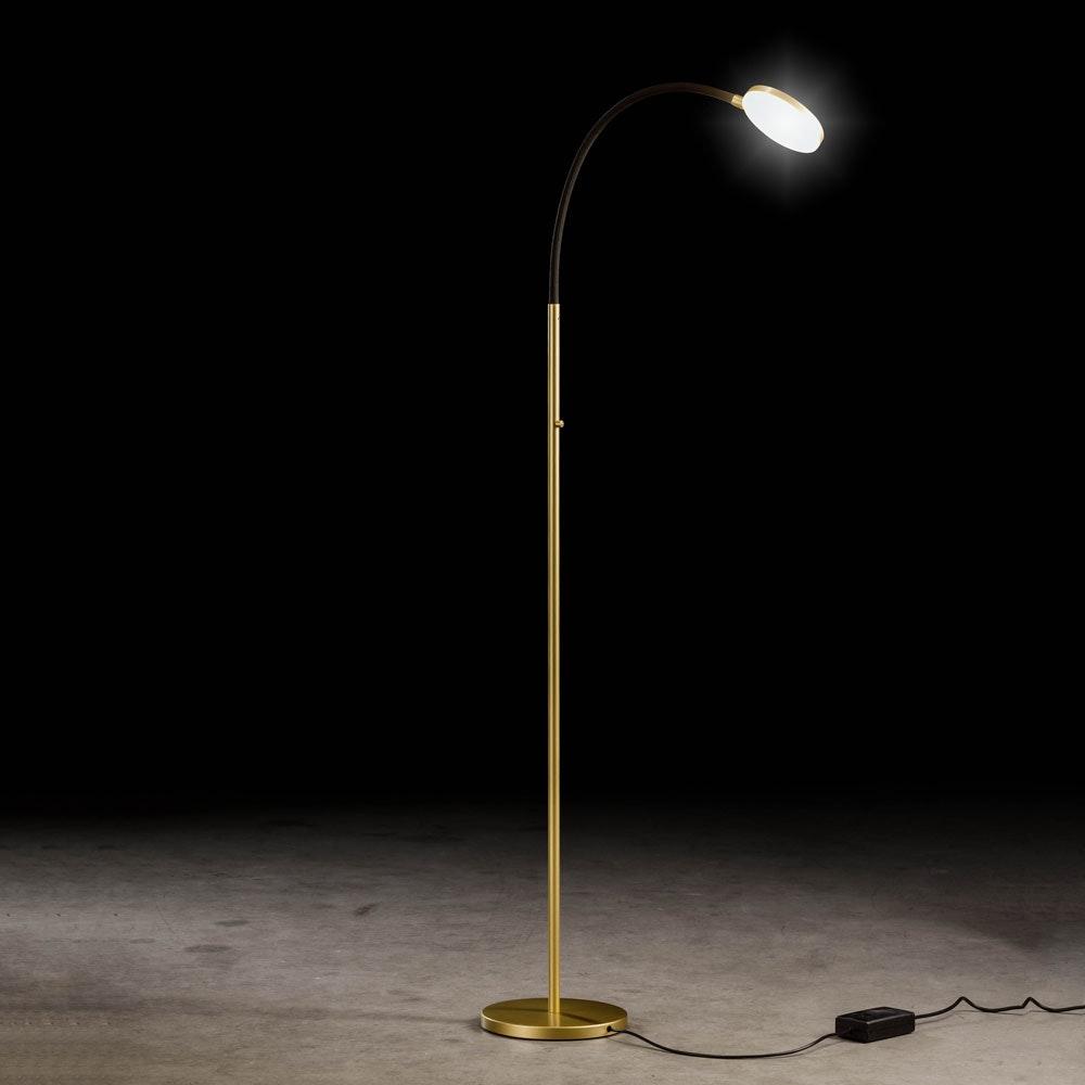 Flex S LED-Stehleuchte mit Tastdimmer 2000lm Gold, Schwarz 1