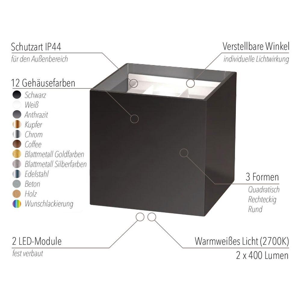 s.LUCE pro Ixa LED Innen- & Außen-Wandleuchte IP44 11