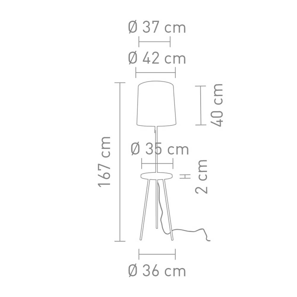 Stehleuchte mit USB Anschluss Tabulo 167cm Schwarz 6