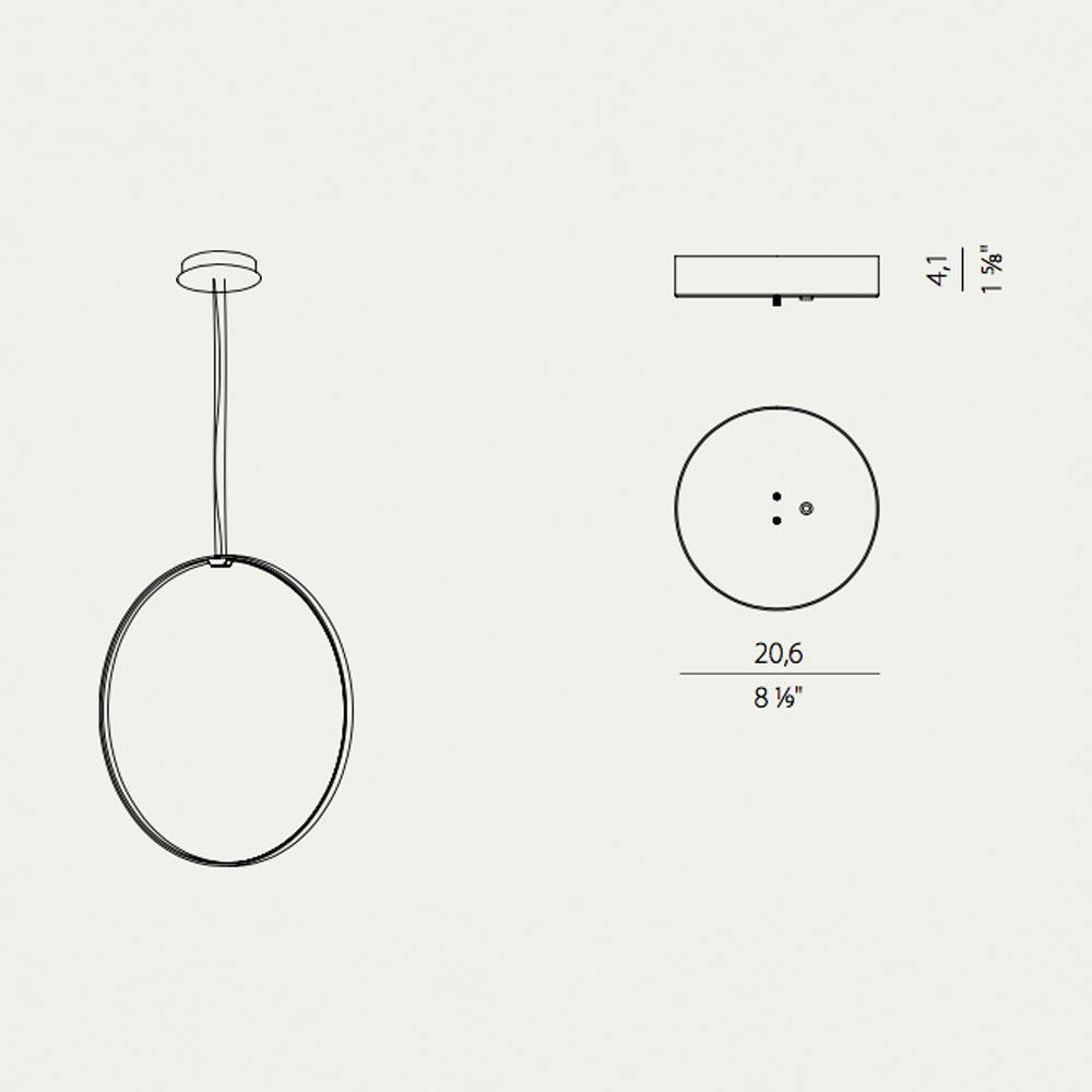 Panzeri Zero Round Vertical LED-Ringleuchte Pendel thumbnail 3