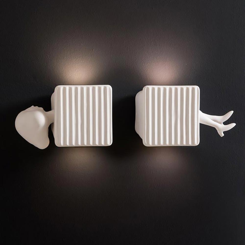 Karman Binarell LED Wandleuchte Weiß-Matt