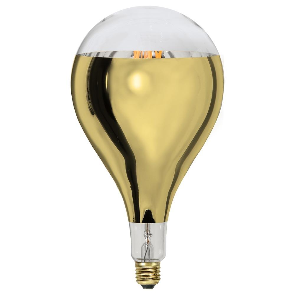 E27 LED Retro-Tropfen Kopfspiegel Messing 400lm Warmweiß dimmbar 3