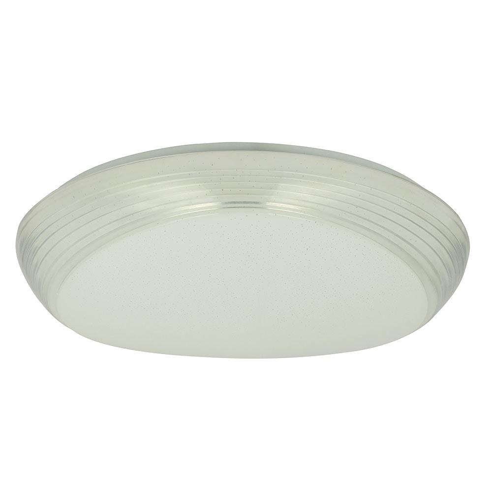 LED Deckenleuchte Lucas Sparkle Dekor CCT 3000-6000K Weiß, Opal 3