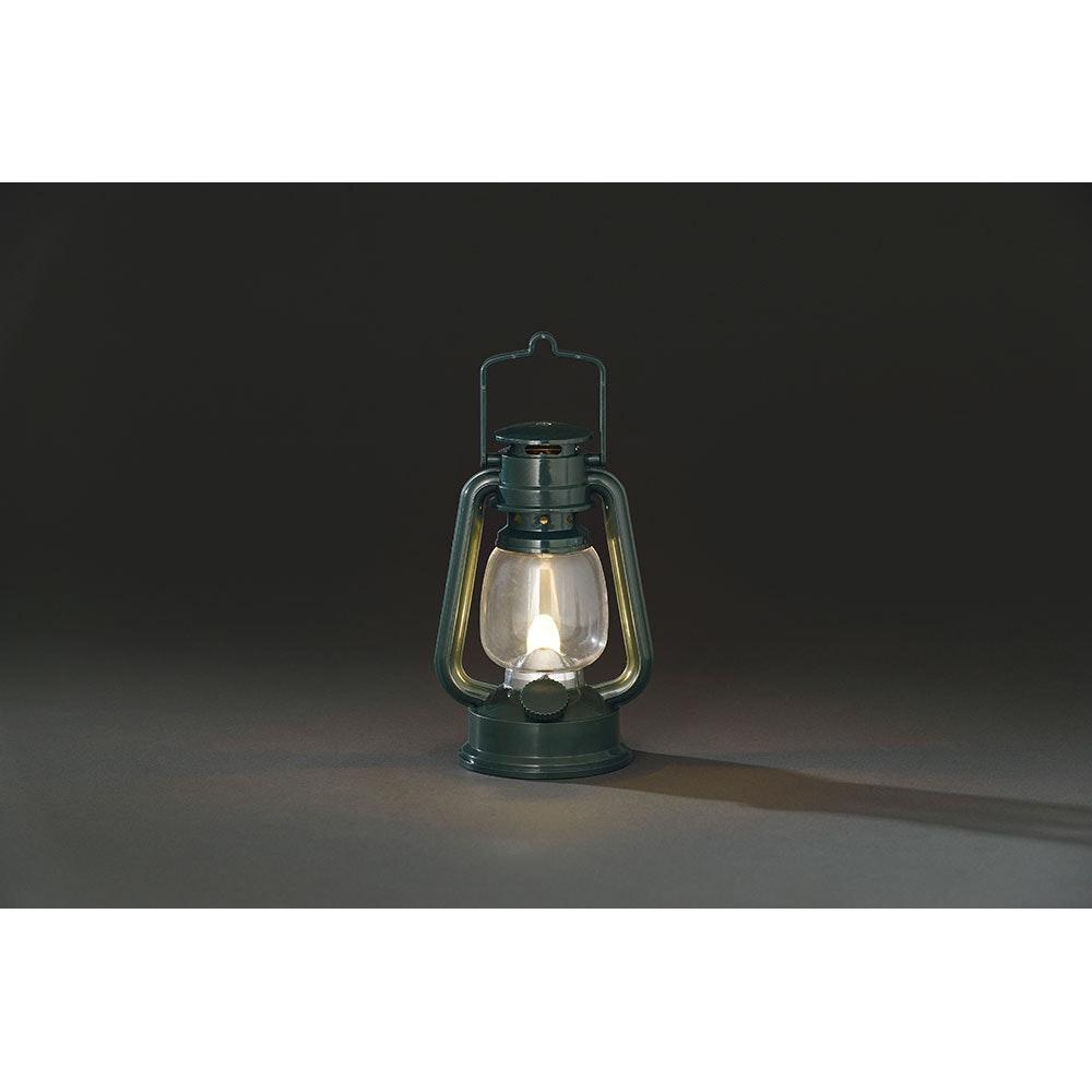 LED Sturmlaterne grün 1 Warmweiße Diode batteriebetrieben 2