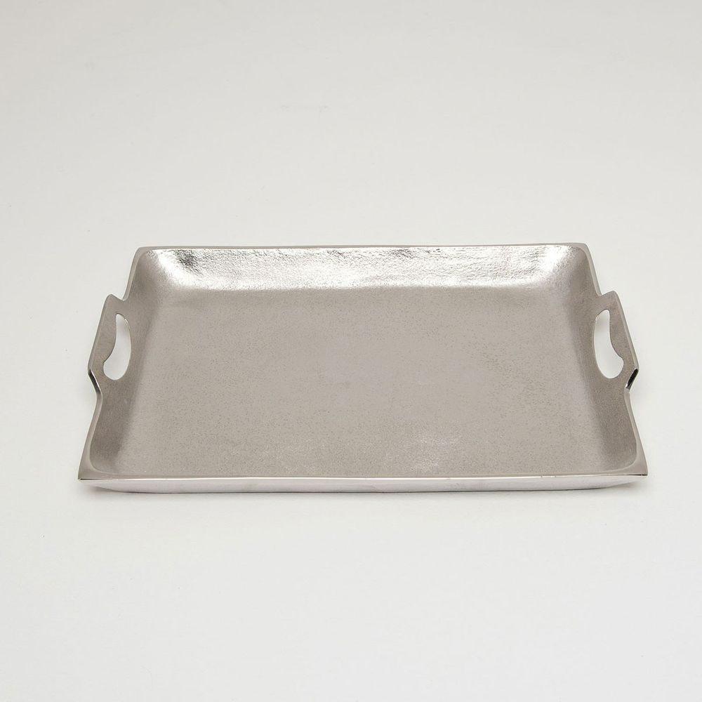 Tablett Domestica Mittel Aluminium Silber 2