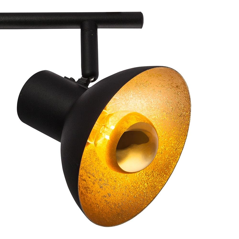 Licht-Trend LED Deckenstrahler Rondon 2-flg. Schwarz, Goldfarben 3