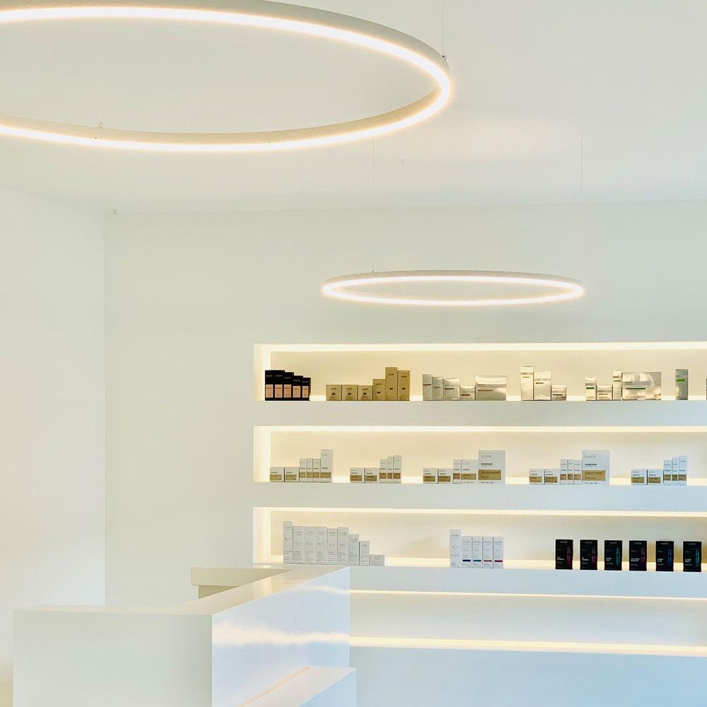 s.LUCE Ring 100 LED Hängelampe 5m Abhängung 7
