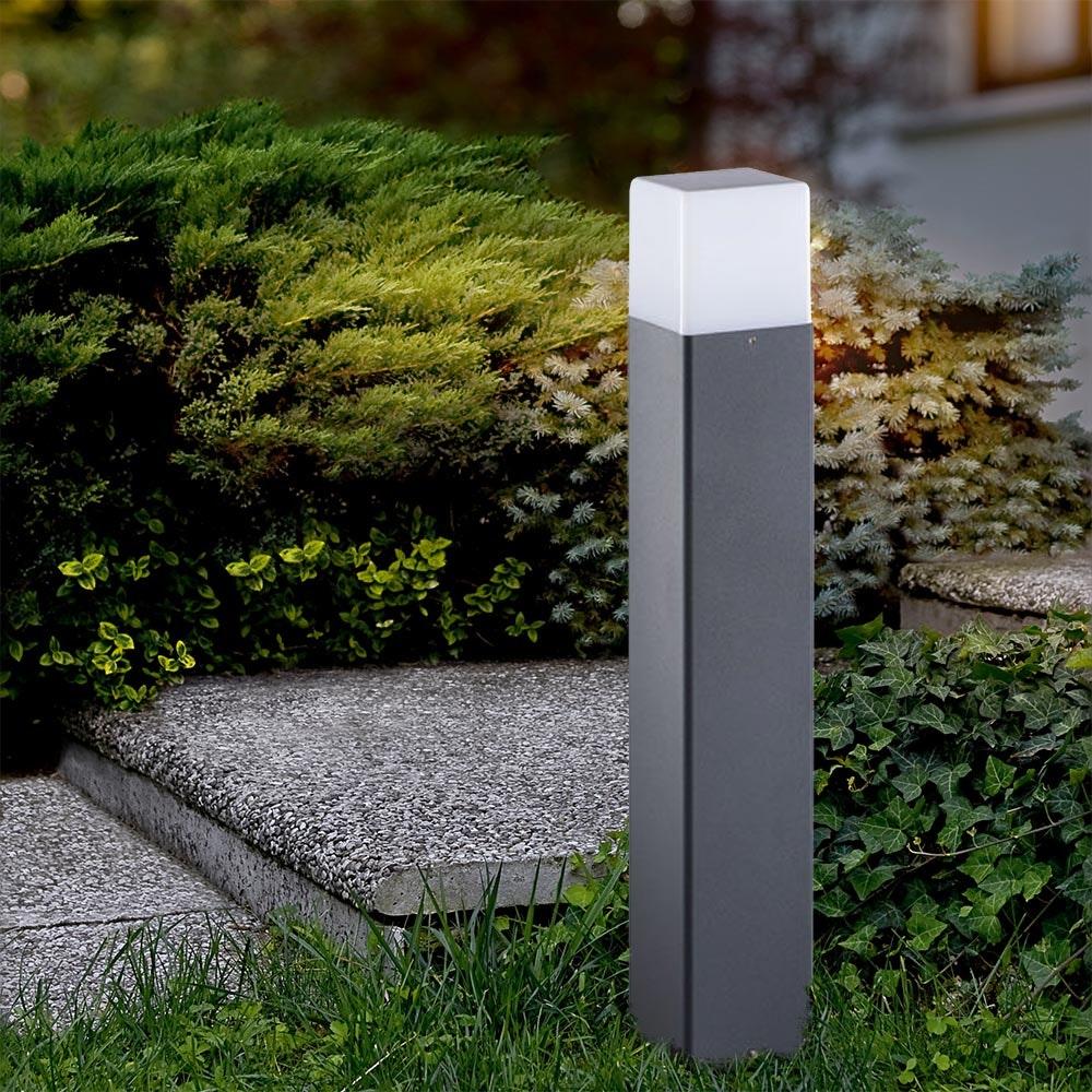 Garten-Pollerlampe Vadra 50cm IP44 Anthrazit, Weiß 1
