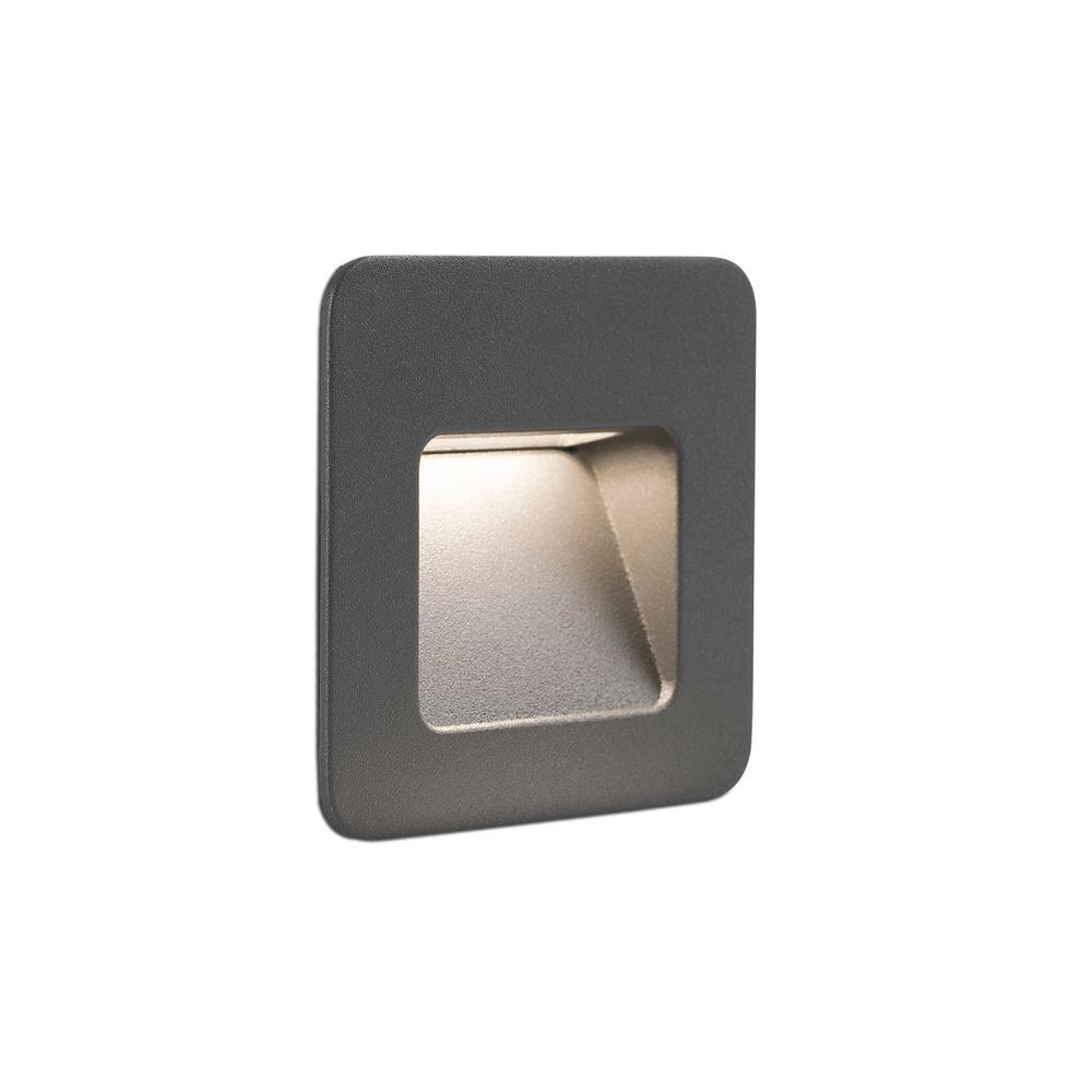 LED Außen-Wandeinbauleuchte NASE-1 3000K IP44 Dunkelgrau 2