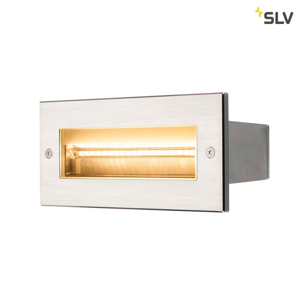 SLV Brick Outdoor Wandeinbauleuchte Pro LED 3000K Edelstahl IP67 850lm 1