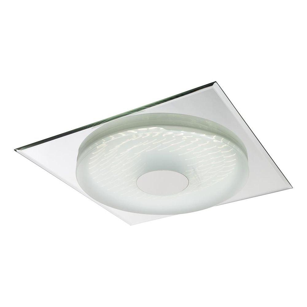 Treviso I Deckenleuchte LED quadratisch, 3D-Effektfolie, 3000K-4500K-6000K, dimmbar 2000lm 3