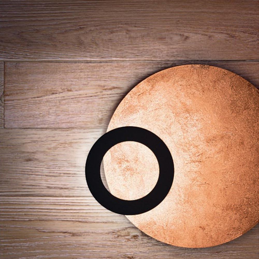 Icone LED Deckenleuchte Vera Ø 66cm Kupfer, Schwarz