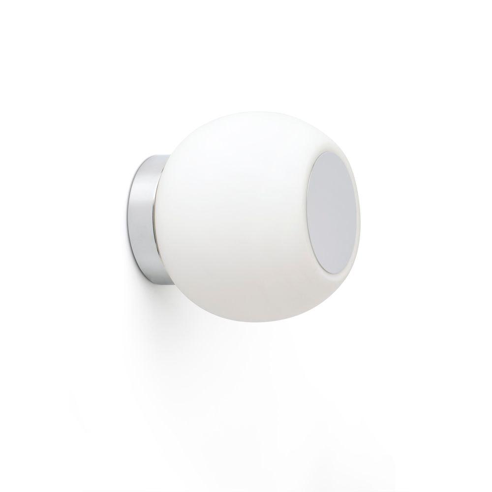 LED Decken- & Wandleuchte Moy 4W 3000K IP44 Chrom, Weiß