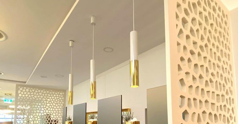 Weiß Goldene Leuchtzylinder