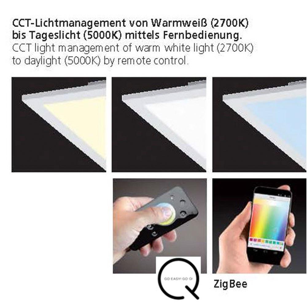 LED Deckenleuchte Q-Flag 46W CCT Weiß 4