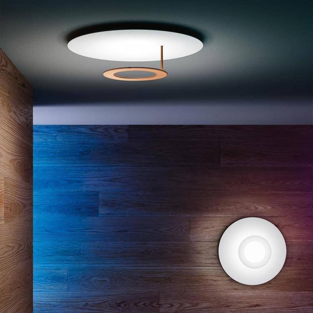 Icone LED Deckenleuchte Vera Ø 50cm Weiß, Kupfer bronziert