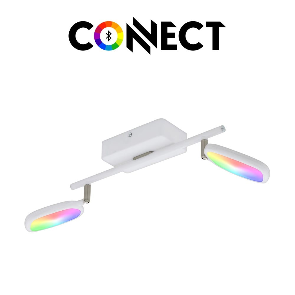 Connect LED Deckenstrahler 2-flg. 1200lm RGB+CCT
