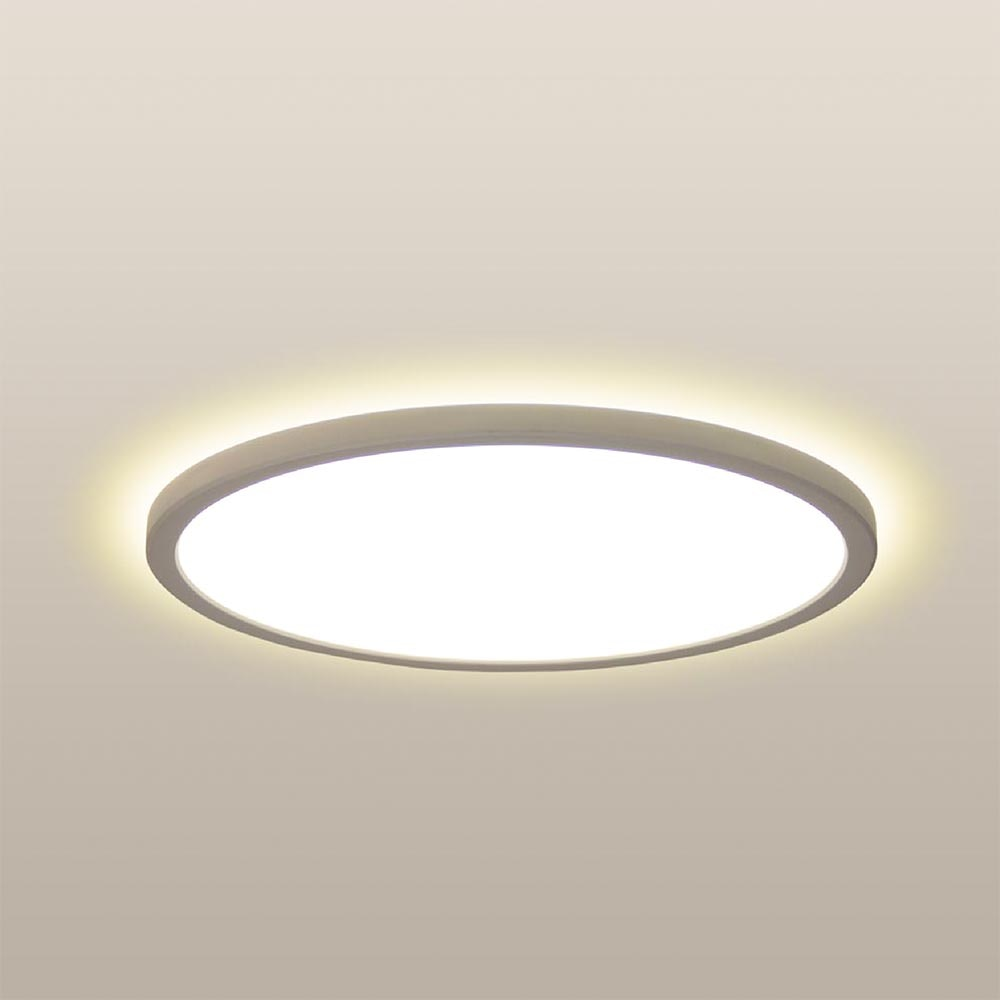 LED Deckenleuchte Board 42 Direkt & Indirekt 2700K Dimmbar per Schalter Weiß