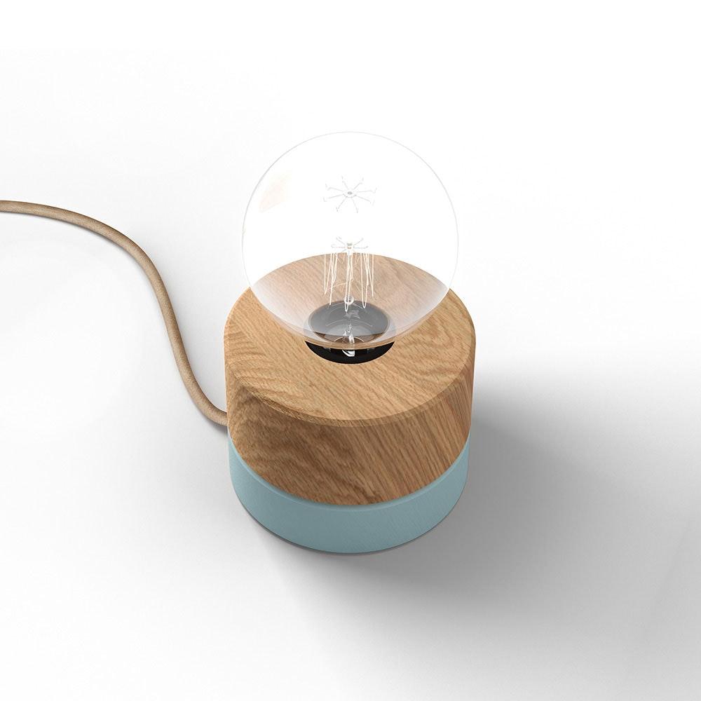 Holz Tischlampe Ø11cm in 3 Holzarten 17