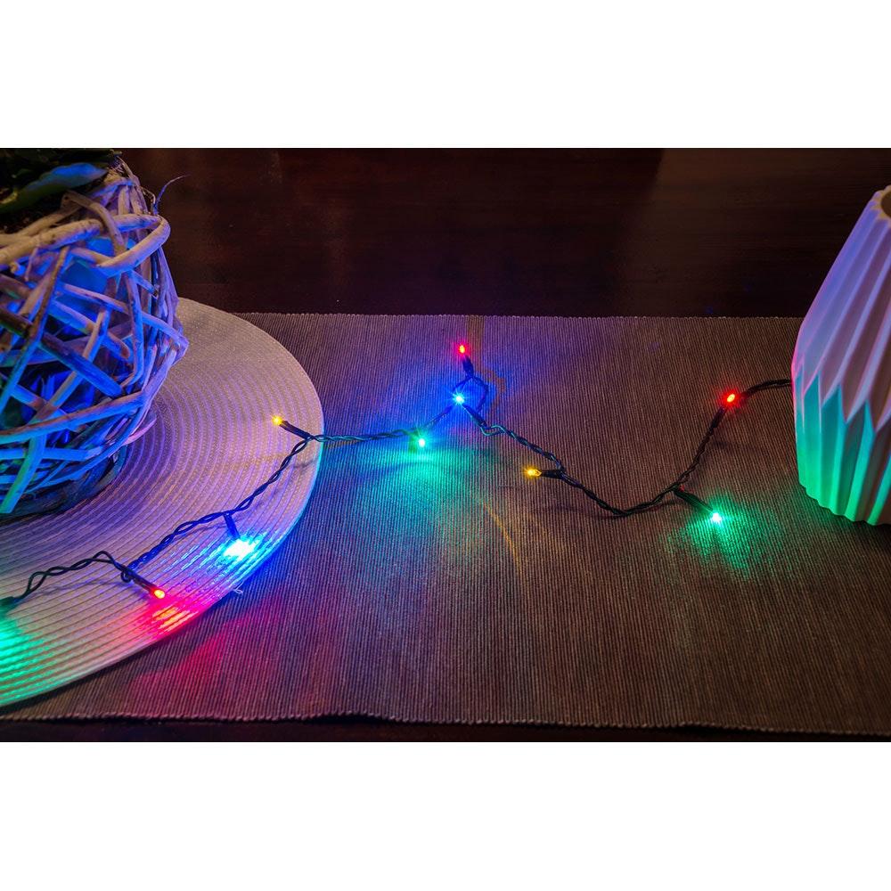 Micro LED Lichterkette verschweißt 50 bunte Dioden 4