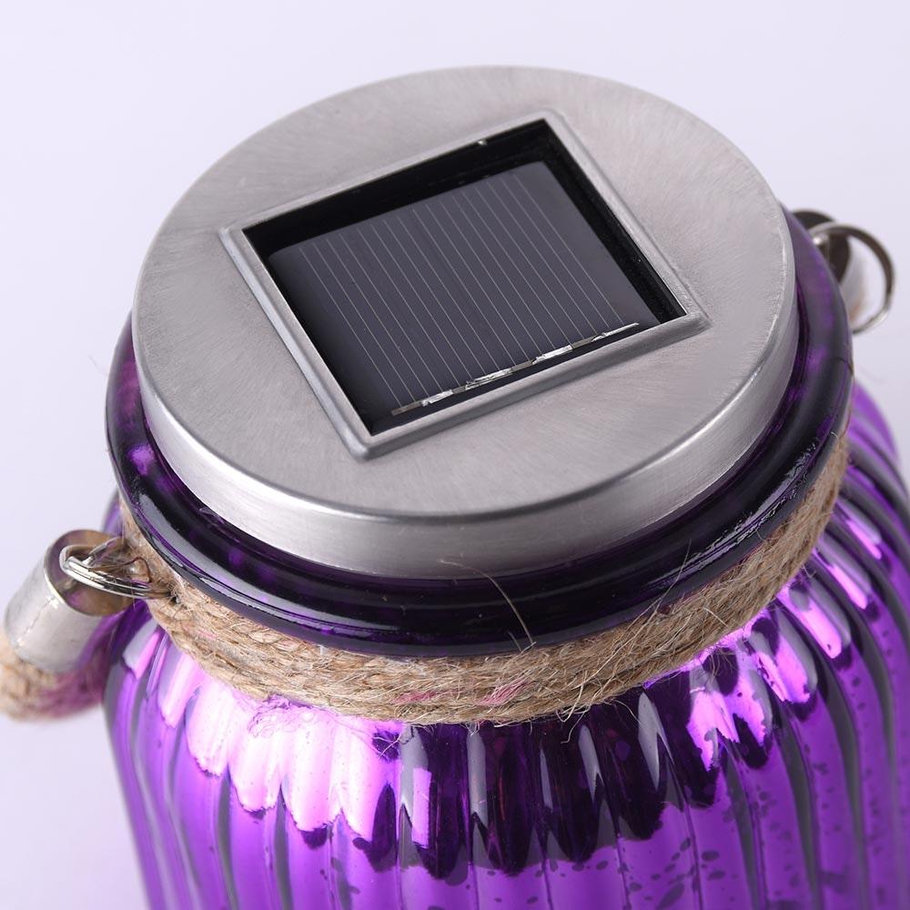 LED Solar Sonnenlichtglas Purpur-Violett 3