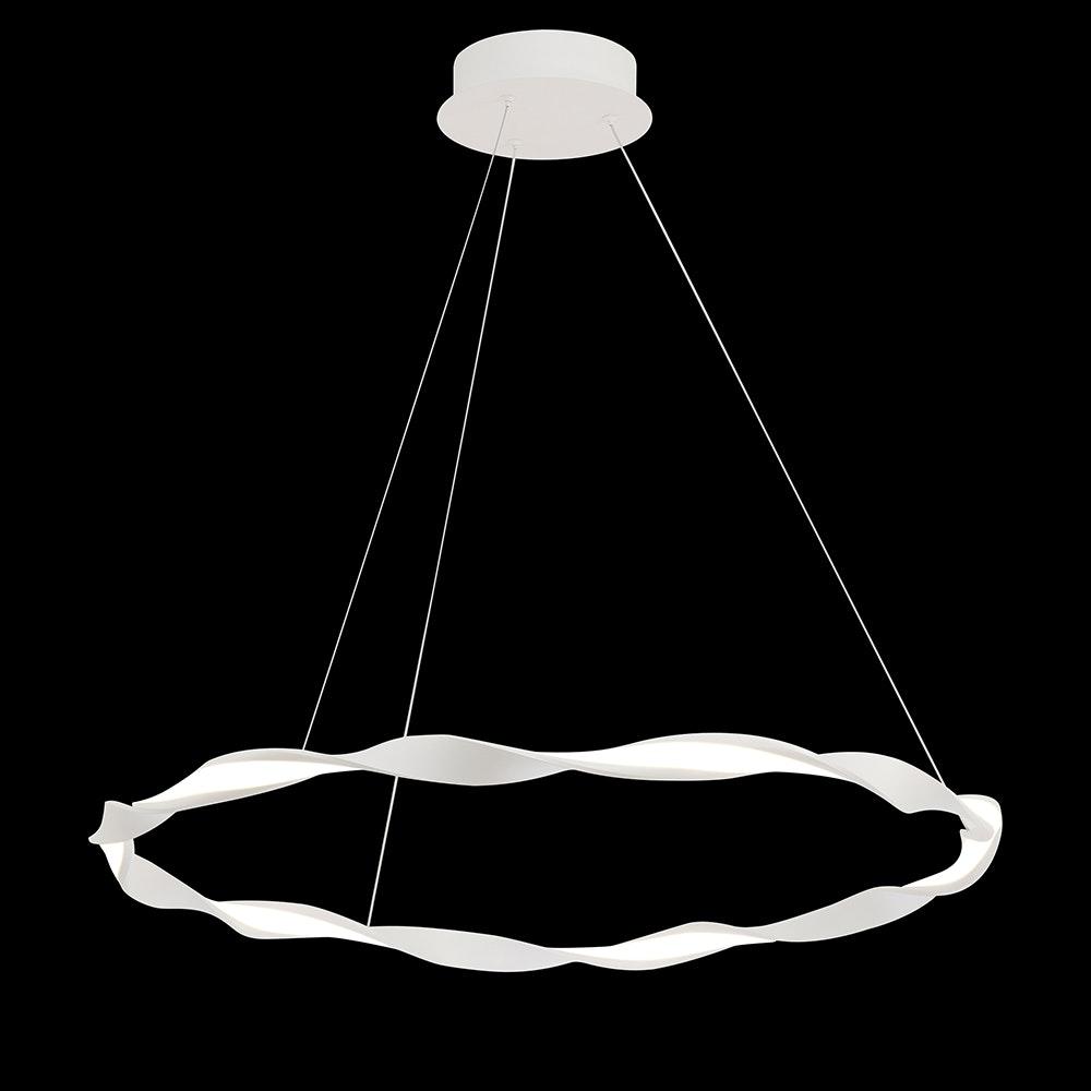 Mantra Madagascar LED-Pendelleuchte Weiß Rund 7