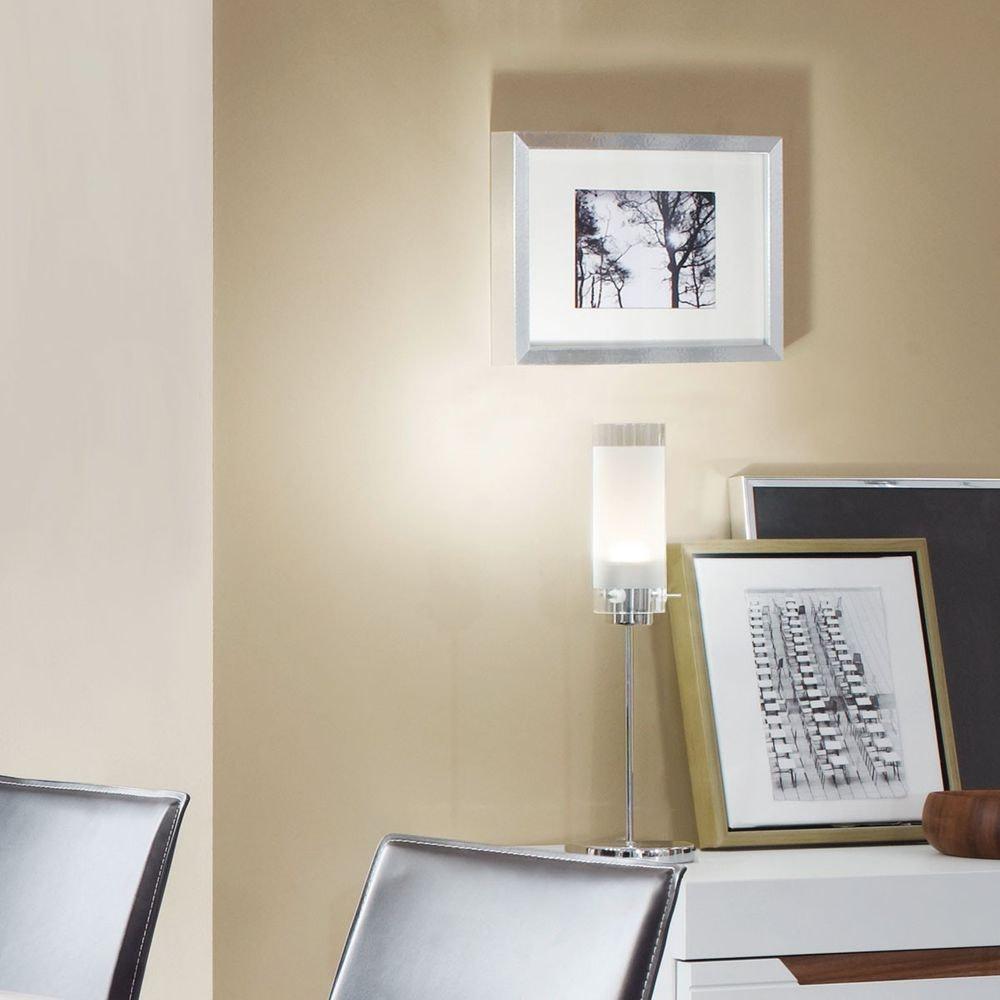 Aggius LED Tischleuchte Ø 12cm Weiß, Klar, Chrom 1