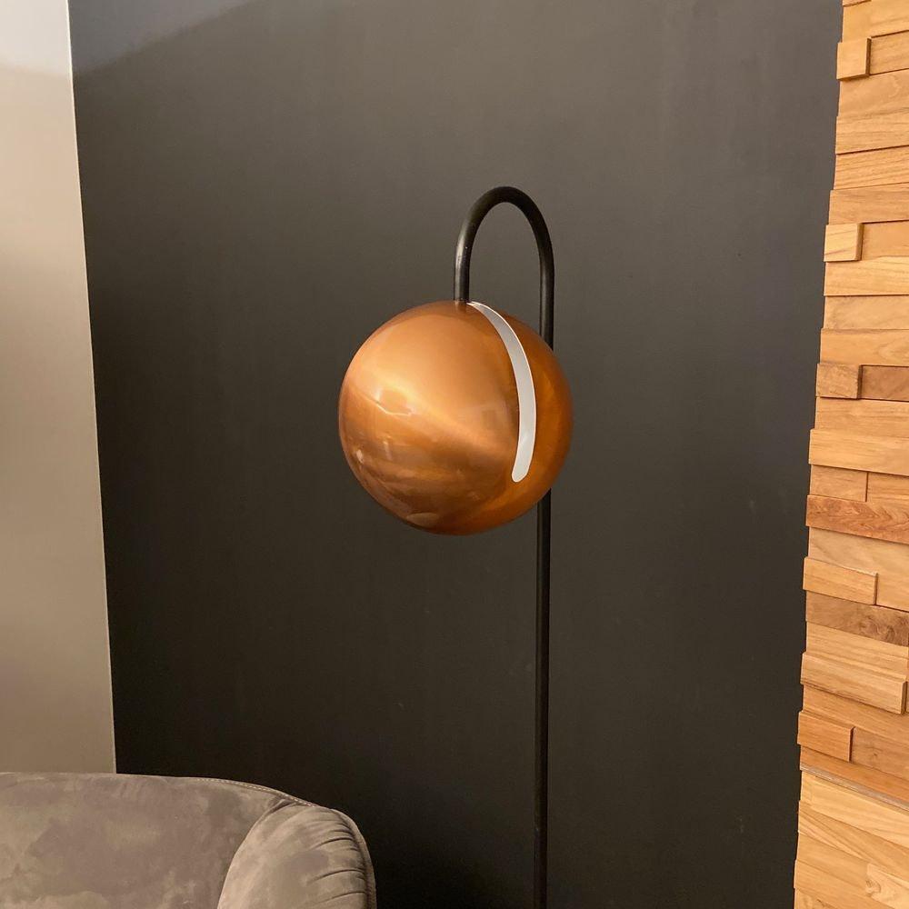 s.LUCE Ball Stehleuchte schwarzer Marmor 170cm 20