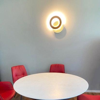 Icone LED Wandleuchte Vera Ø 31cm Gold, Rost 3