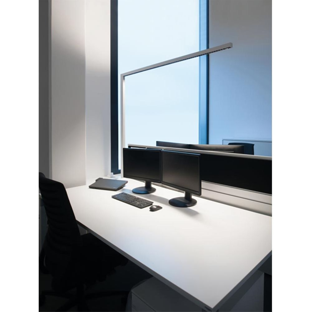 Molto Luce Lens Single Büro Stehleuchte 6100lm up & down Weiß dimmer 3