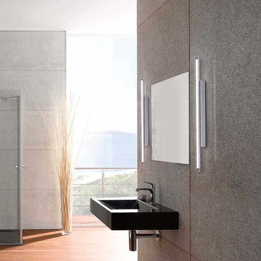 Timon Wand- und Spiegelleuchte, chrom 1xLED-Board, 17W, 3000K Badleuchte IP44