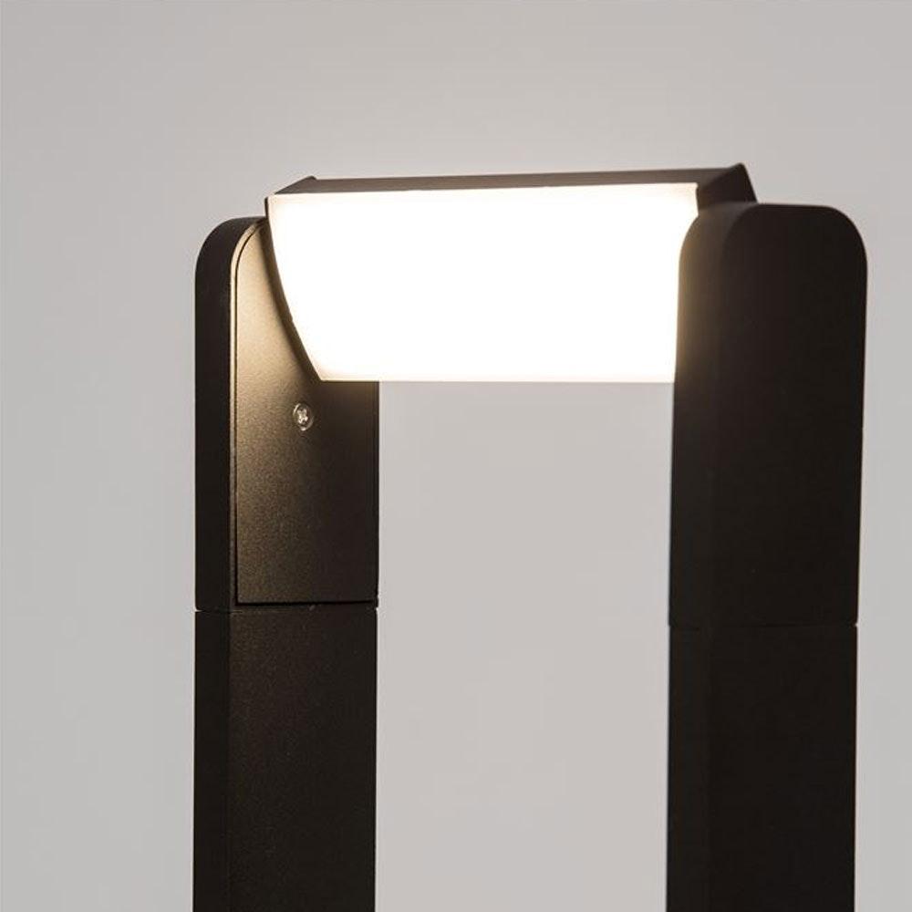 Nova Luce Volver LED Pollerleuchte drehbar Schwarz 2