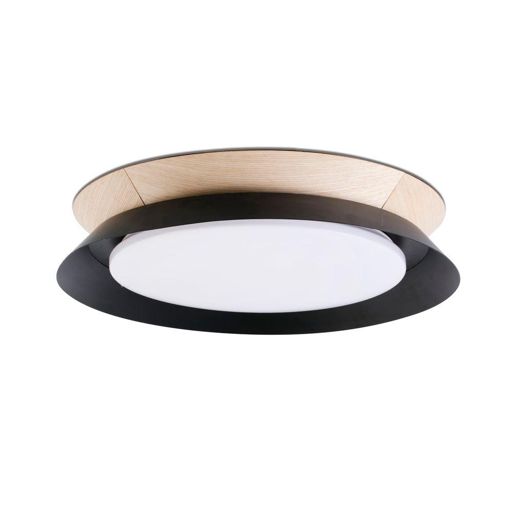 LED Deckenlampe TENDER 24W 3000K Schwarz, Braun
