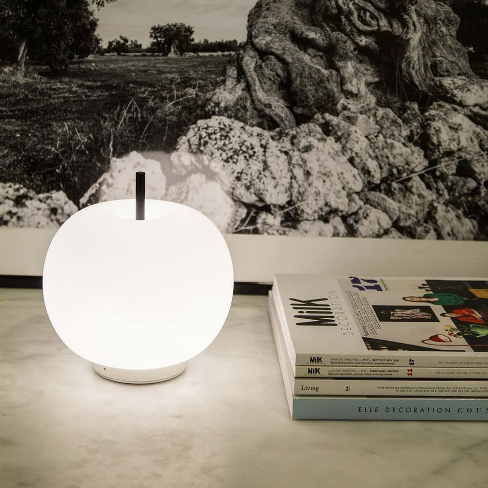 Kundalini Glas LED-Tischlampe Kushi Ø16cm Dimmbar 7