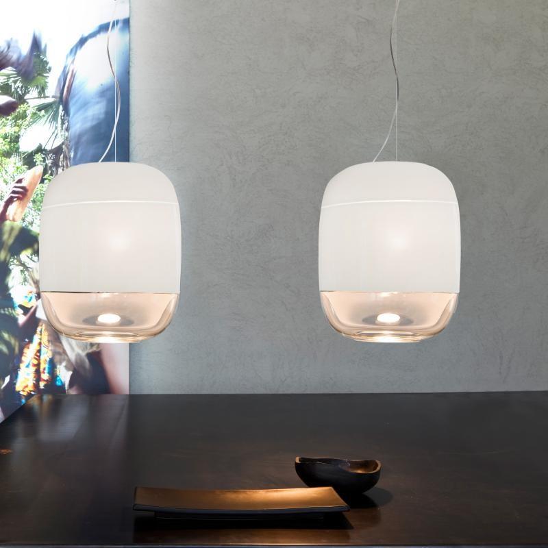 Prandina Hängeleuchte Glas Gong S3 Elfenbein 1