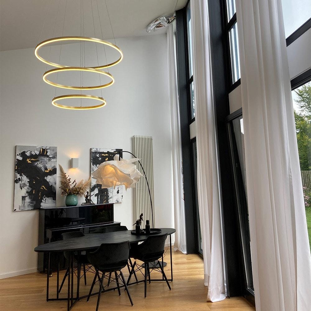 s.LUCE Ring 100 LED Hängelampe Dimmbar 1