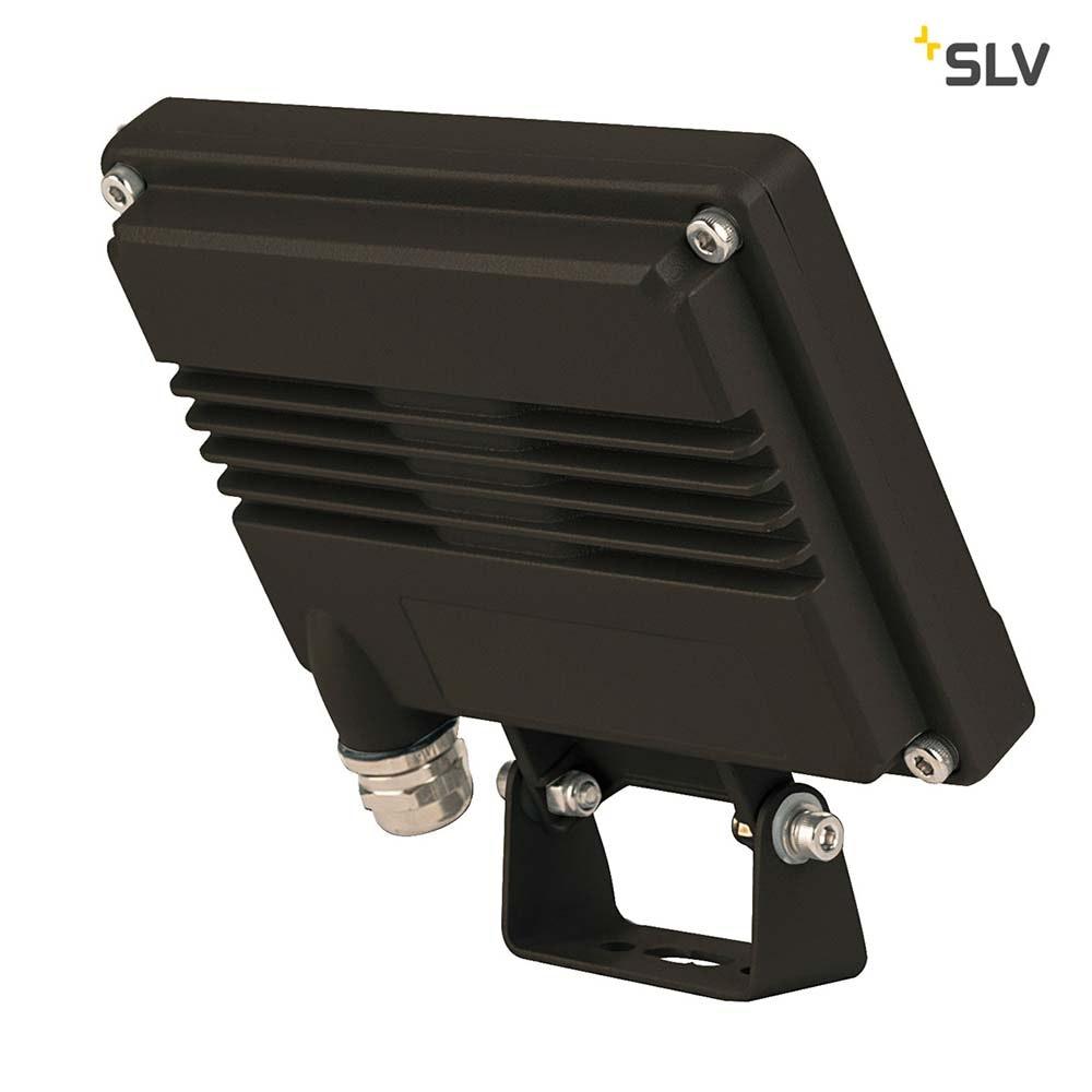 SLV Spoodi Sensor LED Aussen-Wandaufbauleuchte Schwarz 3000K 2