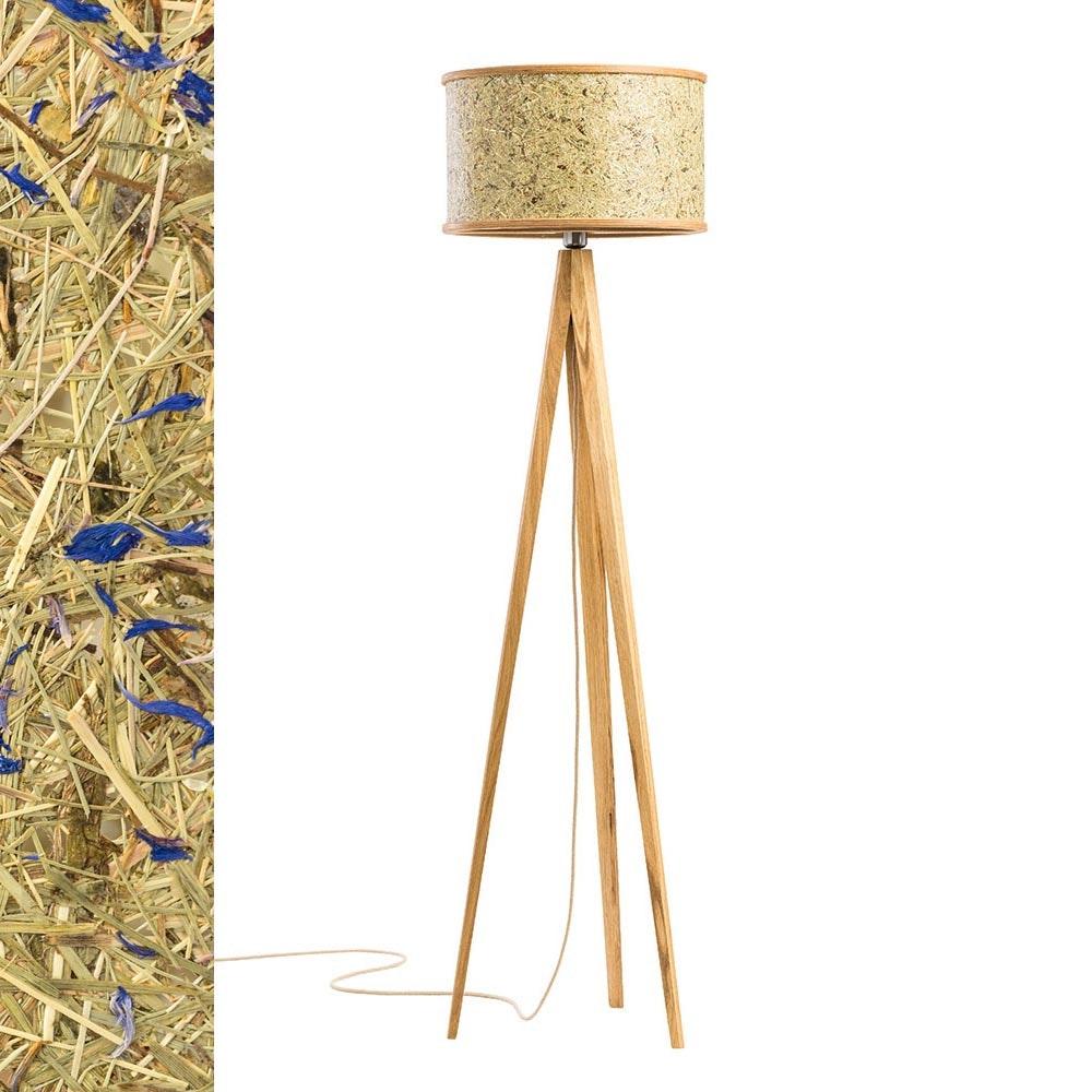 Holz Stehlampe 163cm mit Heuschirm 10