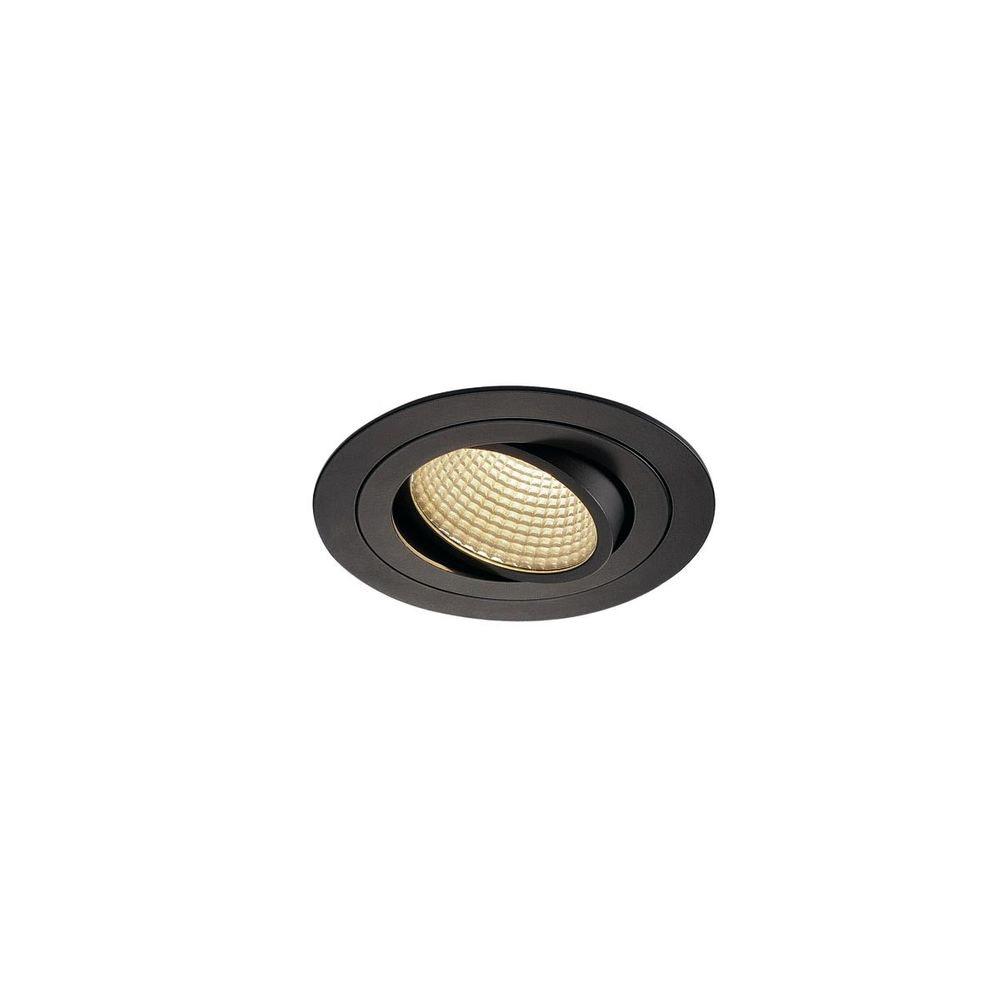 SLV New Tria LED DL Round Set Schwarz 12W 38°, 3000K, inkl. Treiber, Clipf. 1