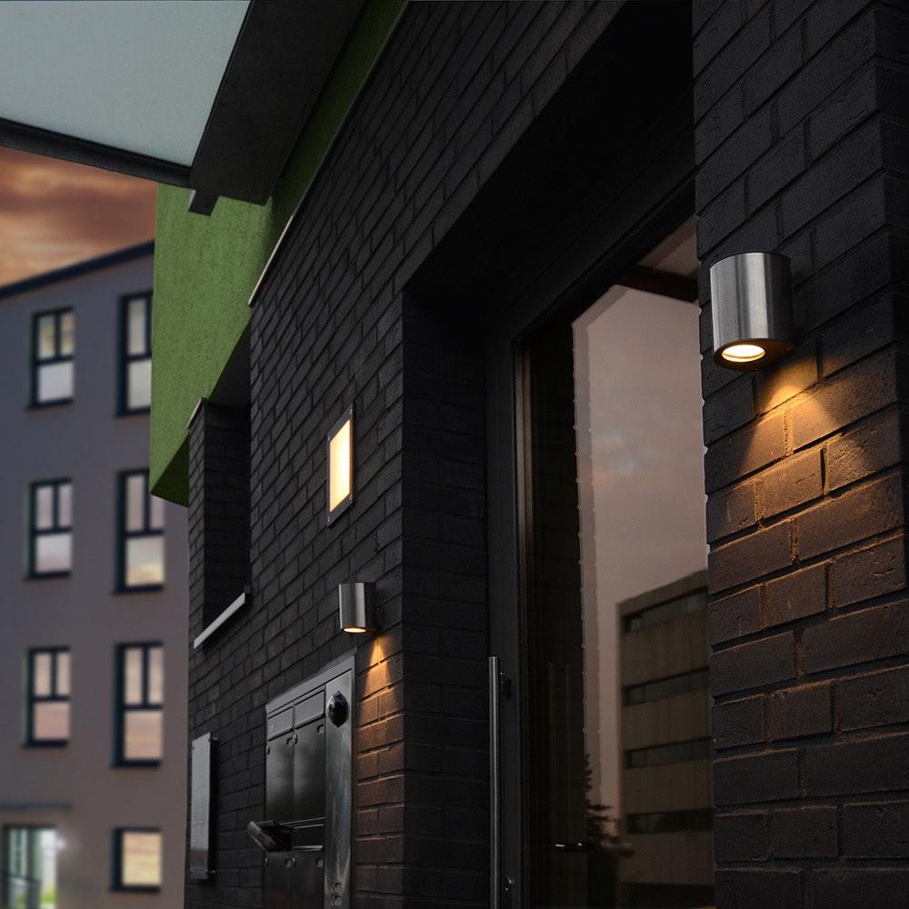 LED Außenwandleuchte Ilumi IP44 Edelstahl 4